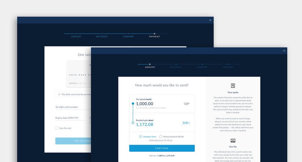 Final payment widget
