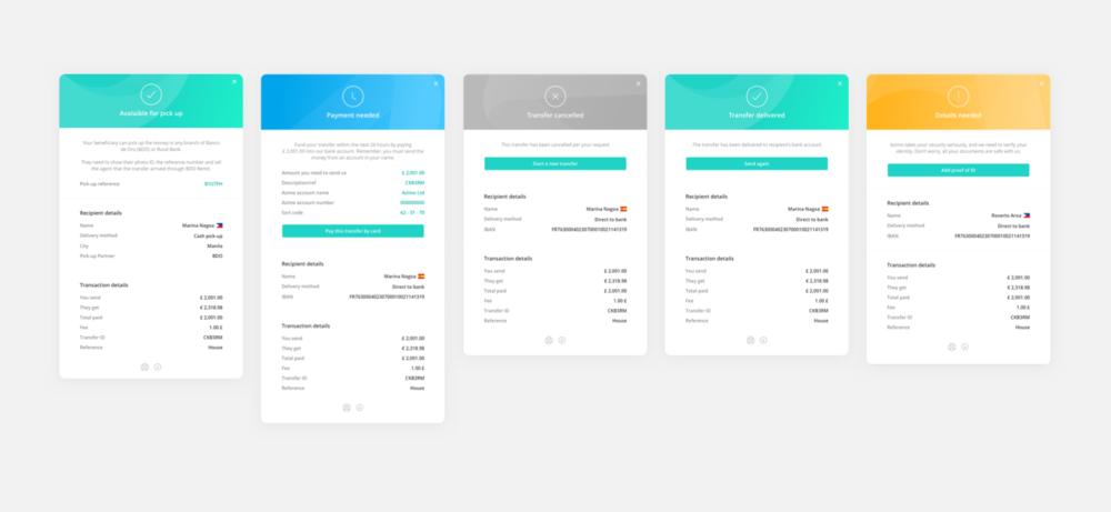 Transaction status desktop - Domingo Widen