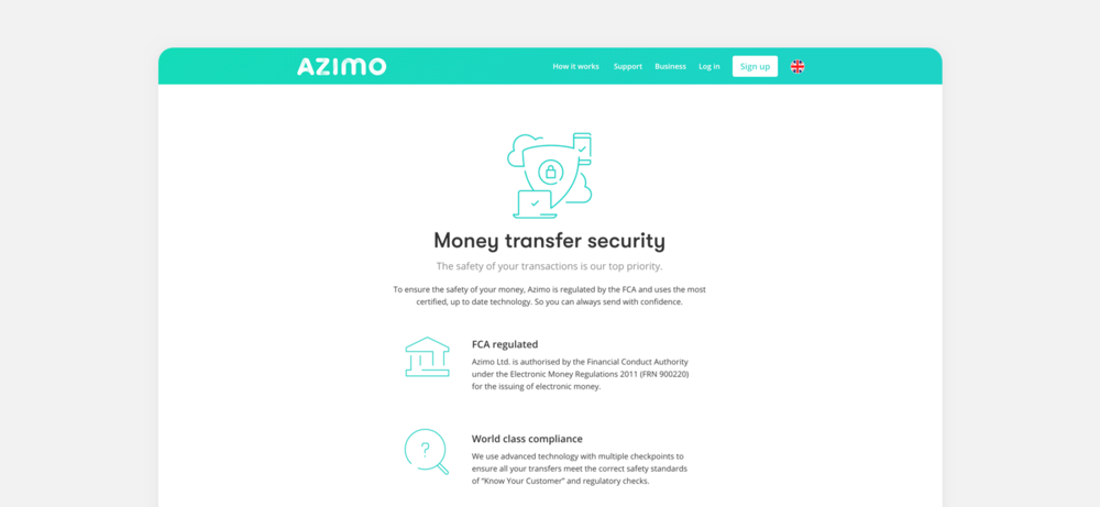 Illustrations used in security page on azimo.com - Domingo Widen