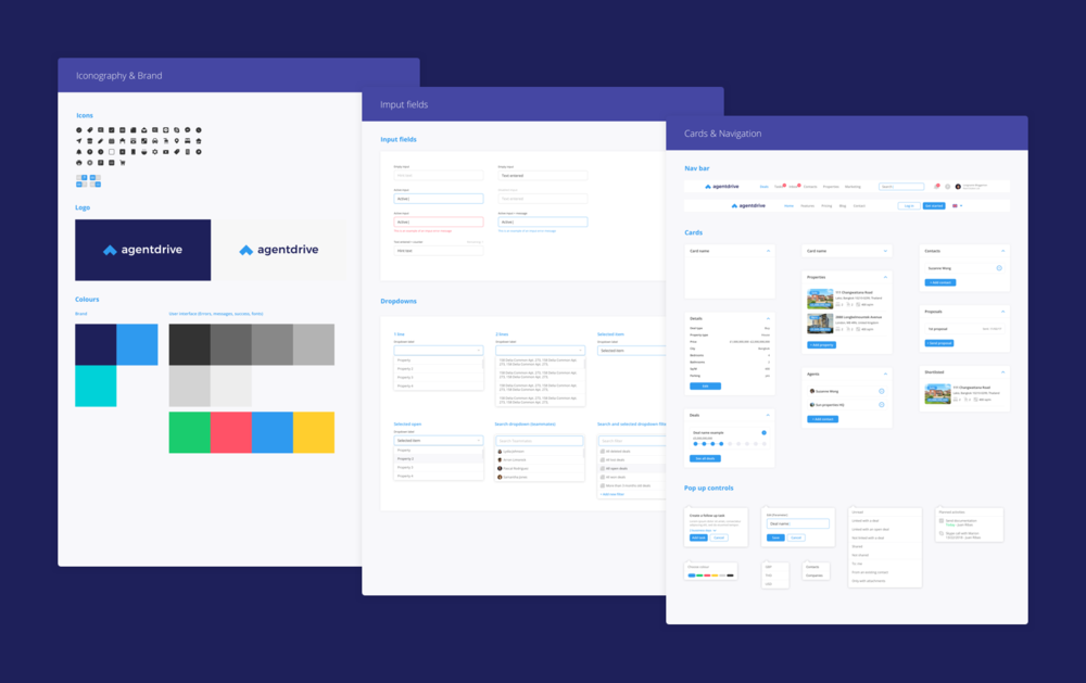 UI components, iconography & brand