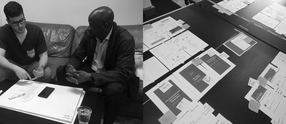 User testing & workshops - Domingo Widen