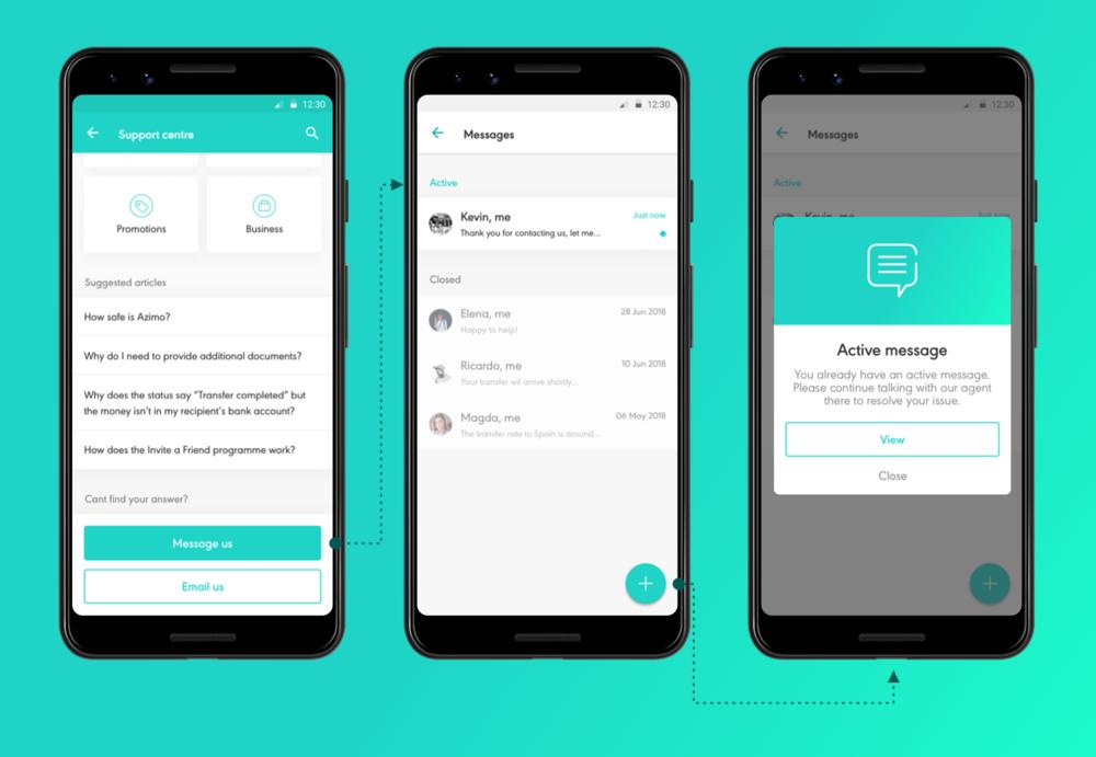 Active chat message - Domingo Widen