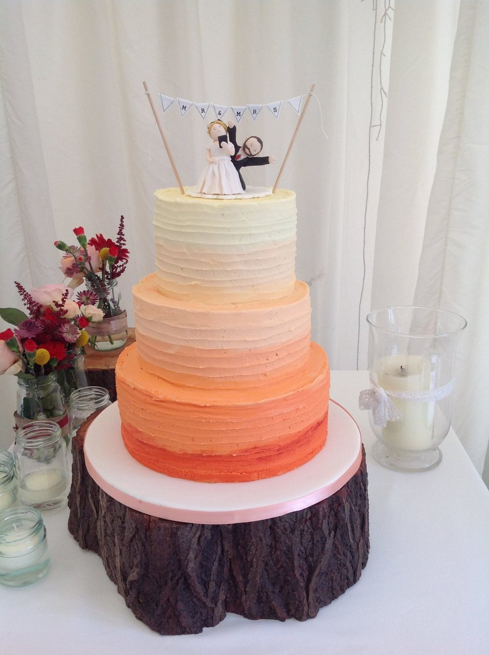 nude wedding cake in kent