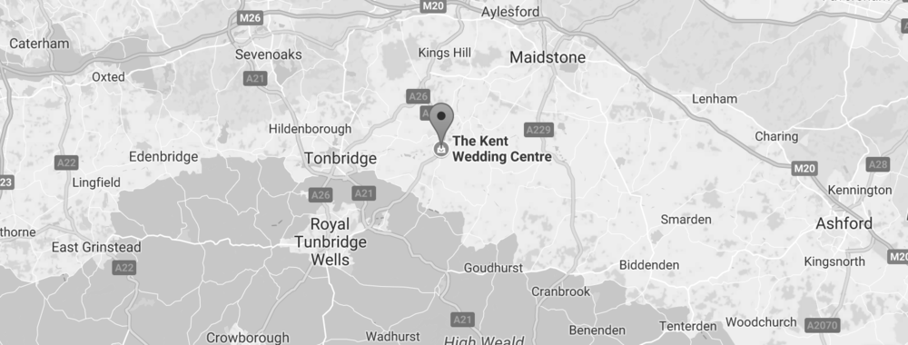 Find us - The Kent Wedding Centre