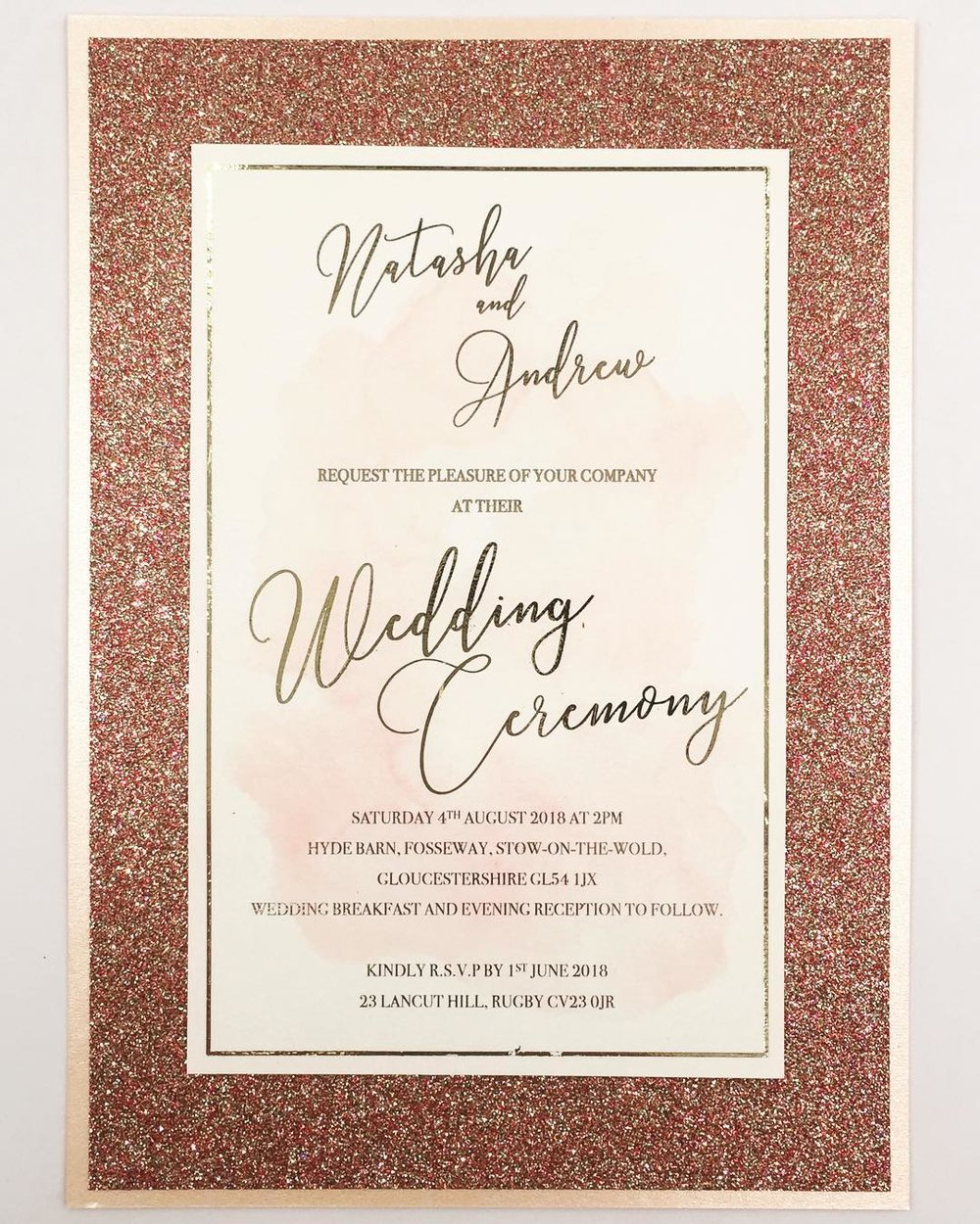 luxury wedding details invite and save the date sparkly