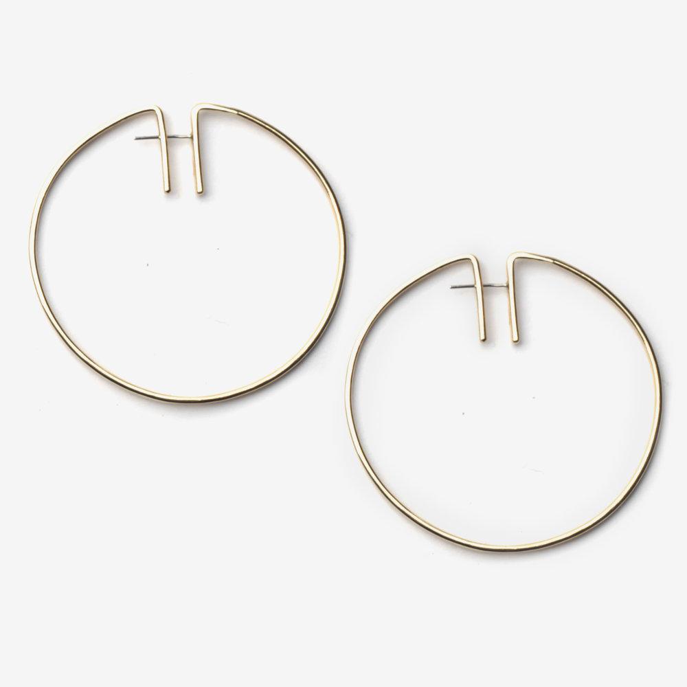 Fay Andrada Rako hoop brass earrings kYeUG98N