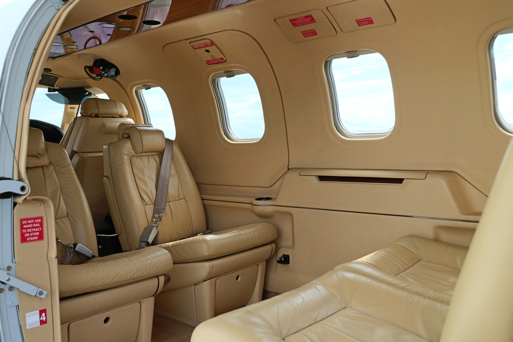 The Daher TBM-850 offers exclusive executive comfort and ammenities