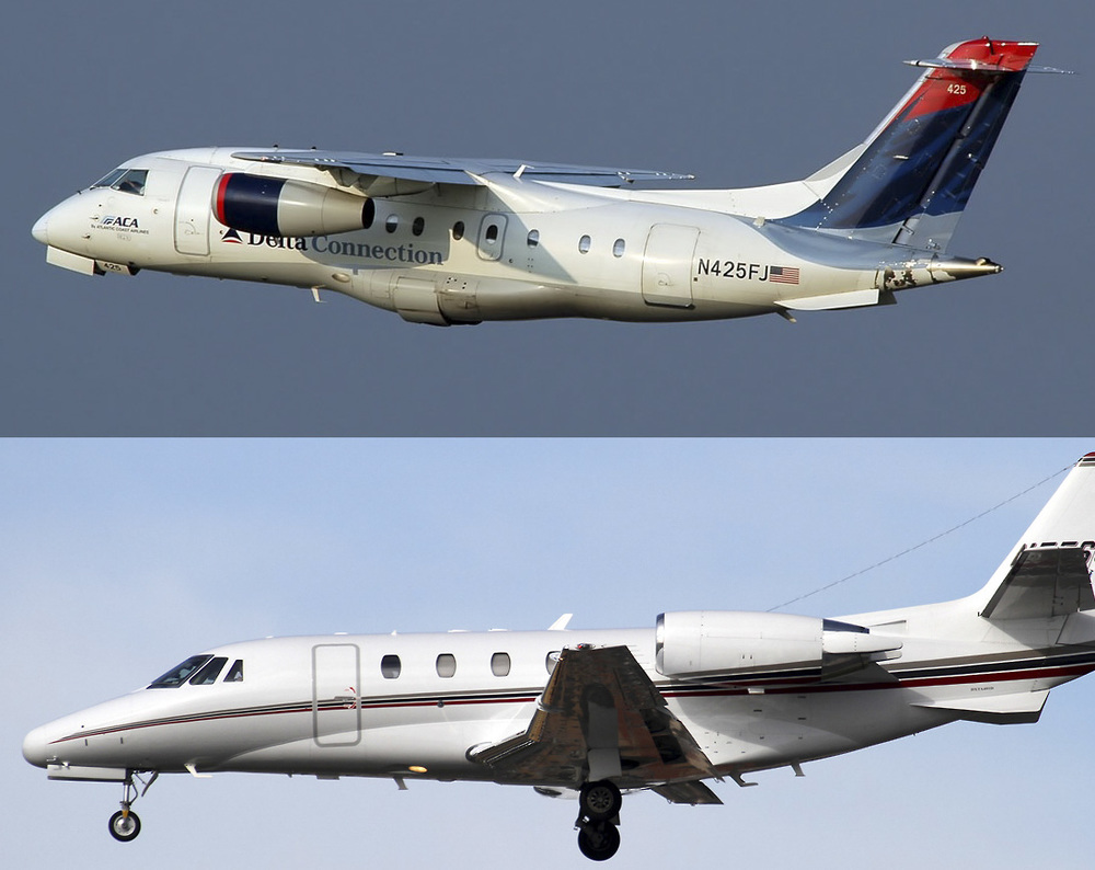Dornier 328Jet and Cessna Citation XLS