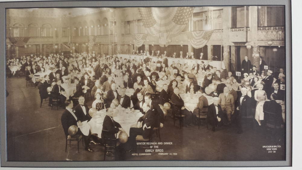 The third meeting of the Early Birds, in 1930.  Dr Walden can be seen at table 35 wearing black round glasses.