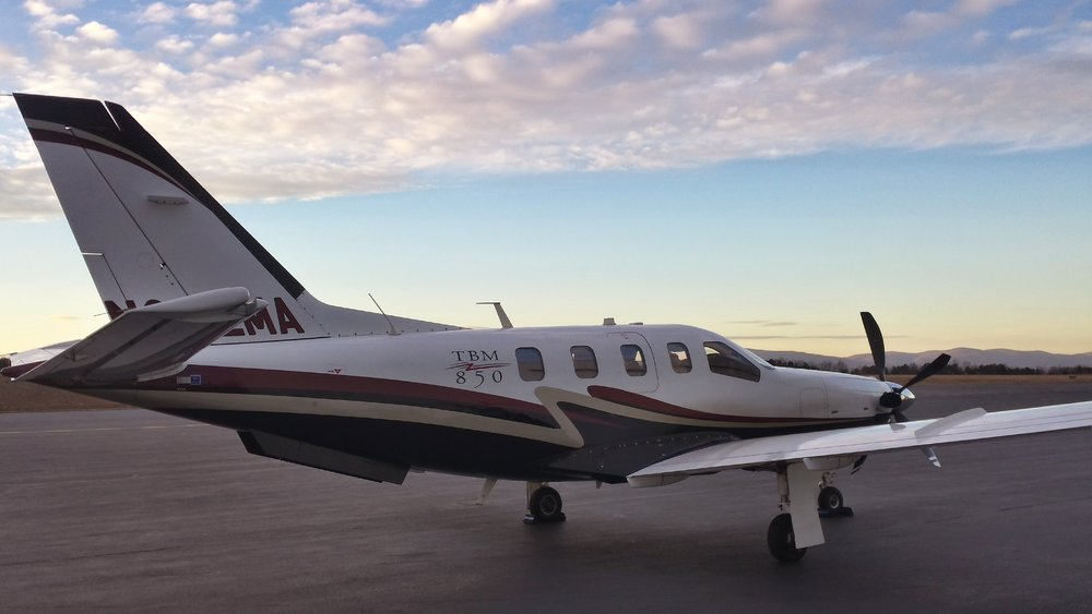 Get where you need to be- Fast! - The TBM 850 can carry six adults in quiet, air-conditioned comfort, climb to 31,000 ft in as little as 20 minutes, fly for over 1,400 nm with NBAA IFR reserves and then slip into a 2,100 ft strip or a mountain runway.