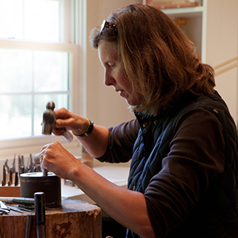 Wendy Krag O'Neil currently in her studio in the Berkshires