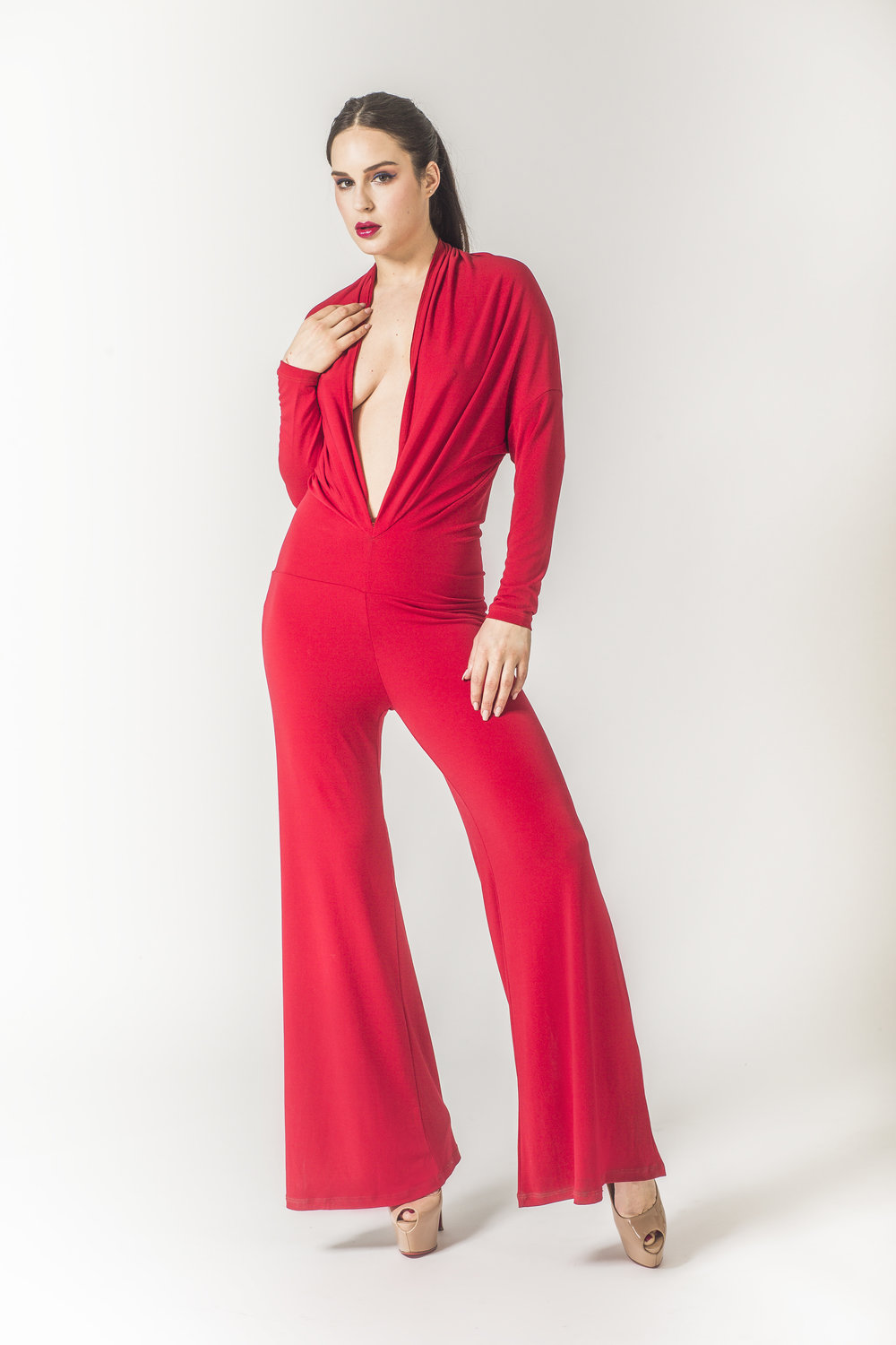 Sexy red jumpsuits