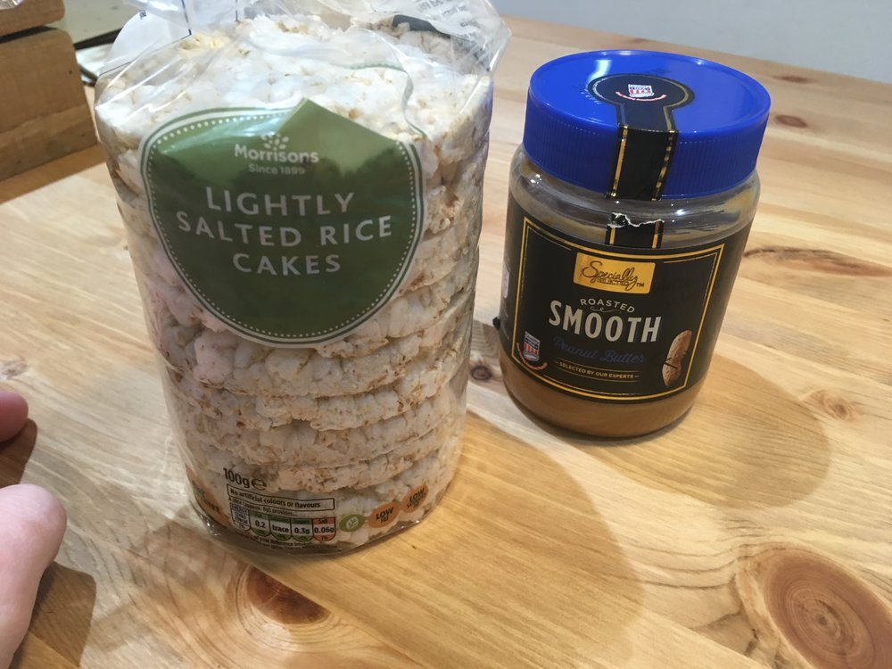 Rice Cakes and Peanut butt