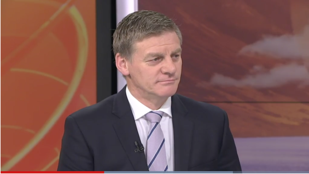 Prime Minister Bill English appearing on TVNZ 1's BreakfastBreakfast.