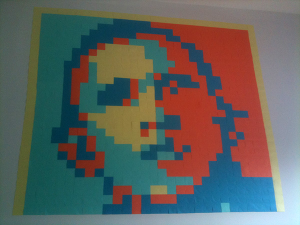 Connu Post-it pixel art — Vince Allen VY49