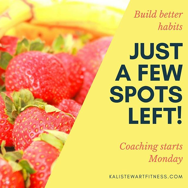 I can't believe the next group starts this Monday! If you're ready to build a better, healthier life and want the accountability to do so, there are a few spots left!