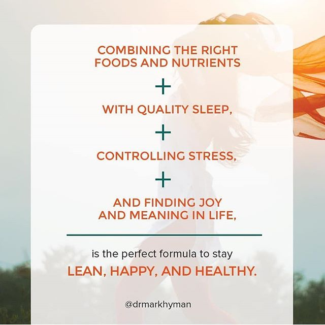 Truer words couldn't be written. Love this post from.@drmarkhyman . . Being lean is something that 99% of my clients are working on. Losing weight is a formula not just based on diet and exercise, but also on our sleep, how we mediate stress, and the meaning we give to our lives. . . If you've been struggling with your weight, look at this list and see of there are areas that you know you can improve. Start with the low-hanging fruit 😉