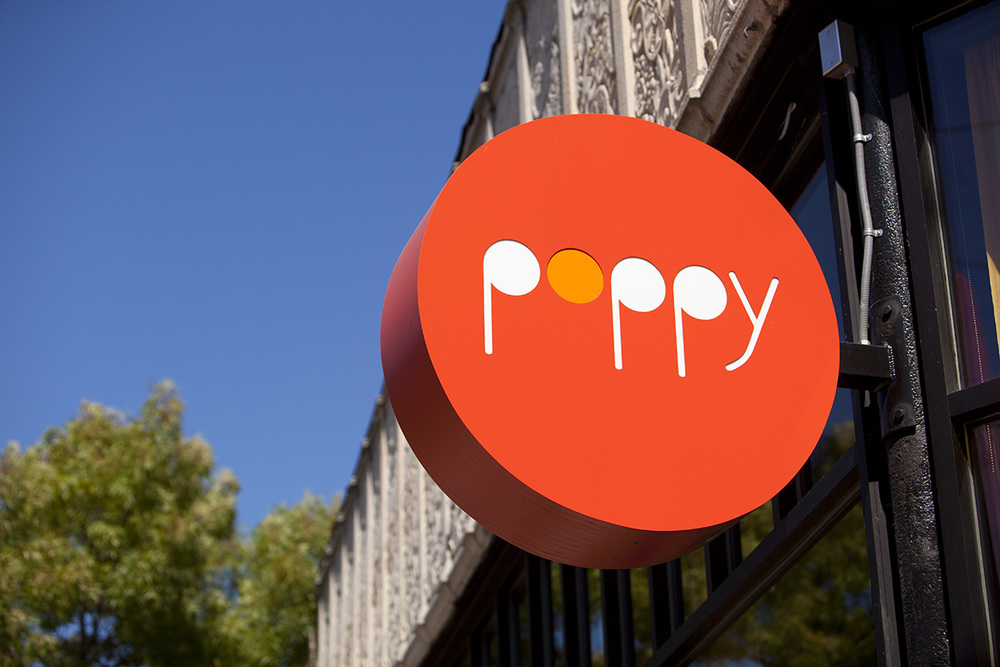 Poppy Restaurant Sign