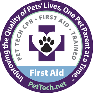 Our entire staff was Certified in Pet First Aid and CPR in January 2019 by Pet Tech