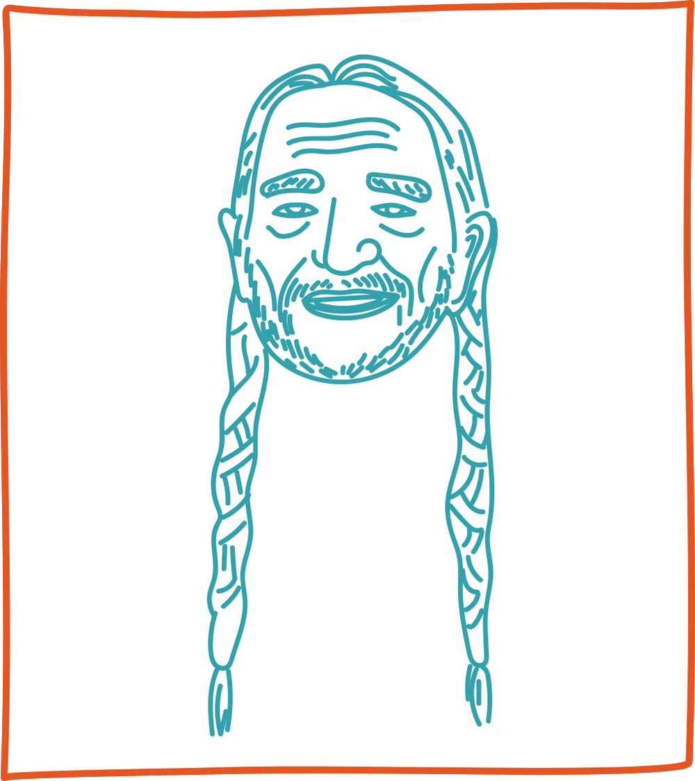 62. willie nelson   (chip w)