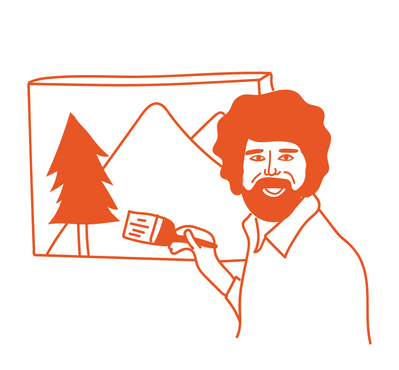 51.    unexpected bob ross marathons on pbs  (pamela d)