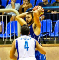 Mike playing overseas in Israel for Elizur Ashkelon  '15