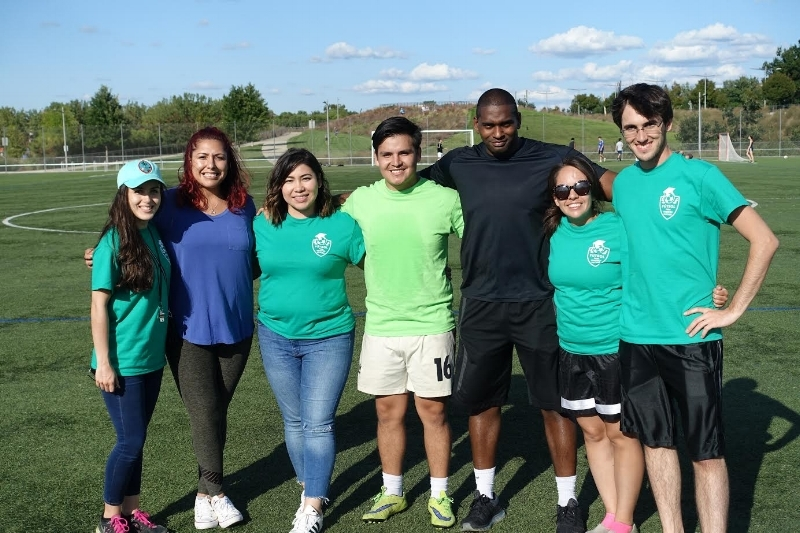 The Associate Council after the first annual Edu-Futuro soccer tournament, September 9, 2017