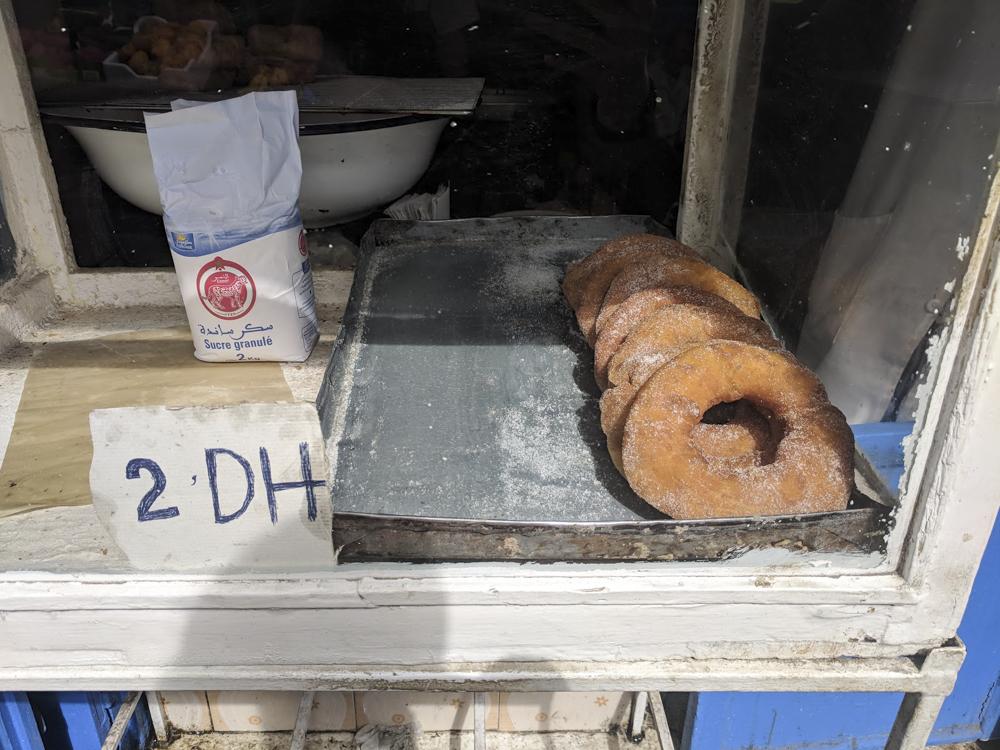 - Street Doughnuts. 2 DH = $0.27 USD