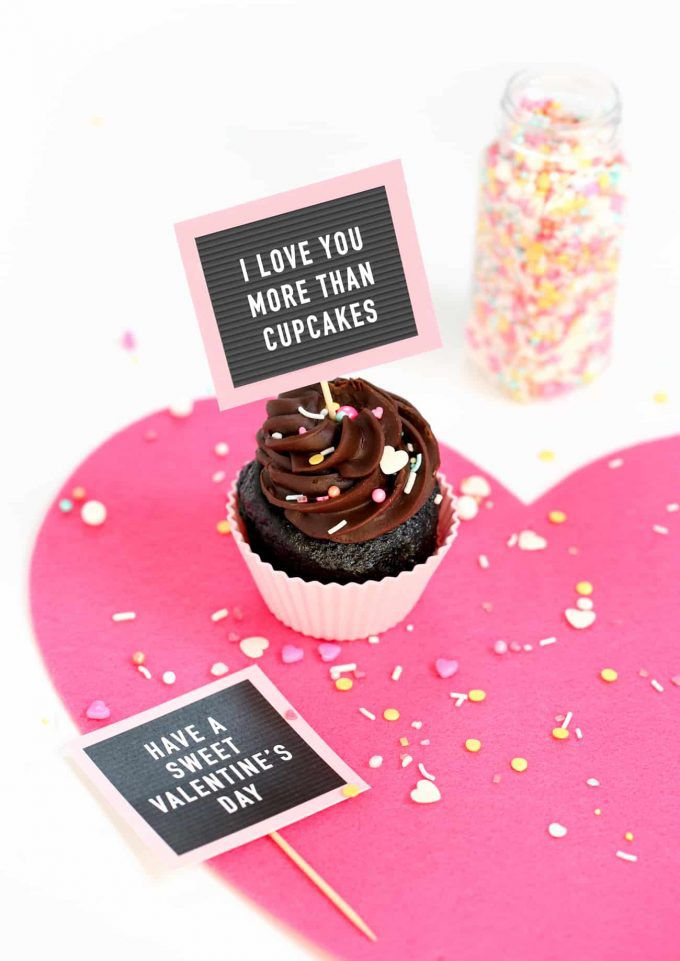 4. Cupcake Letterboard - Turn delicious cupcakes into pun-worthy AND delicious cupcakes with this sweet touch.