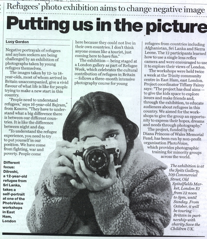 Transparency featured in The Guardian, July 2002