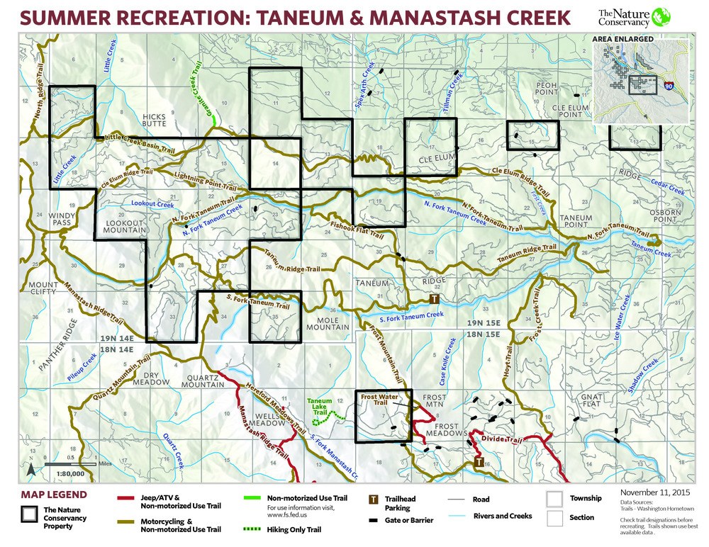Maps Tables The Nature Conservancy In Washington