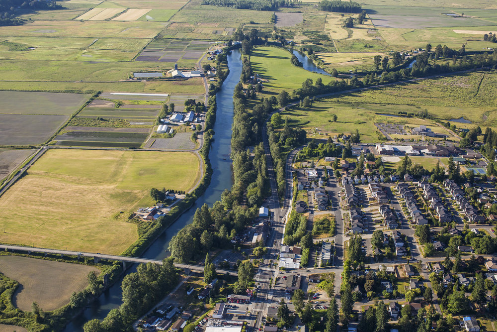 Snoqualmie River aerial view (photo by Paul Joseph Brown)