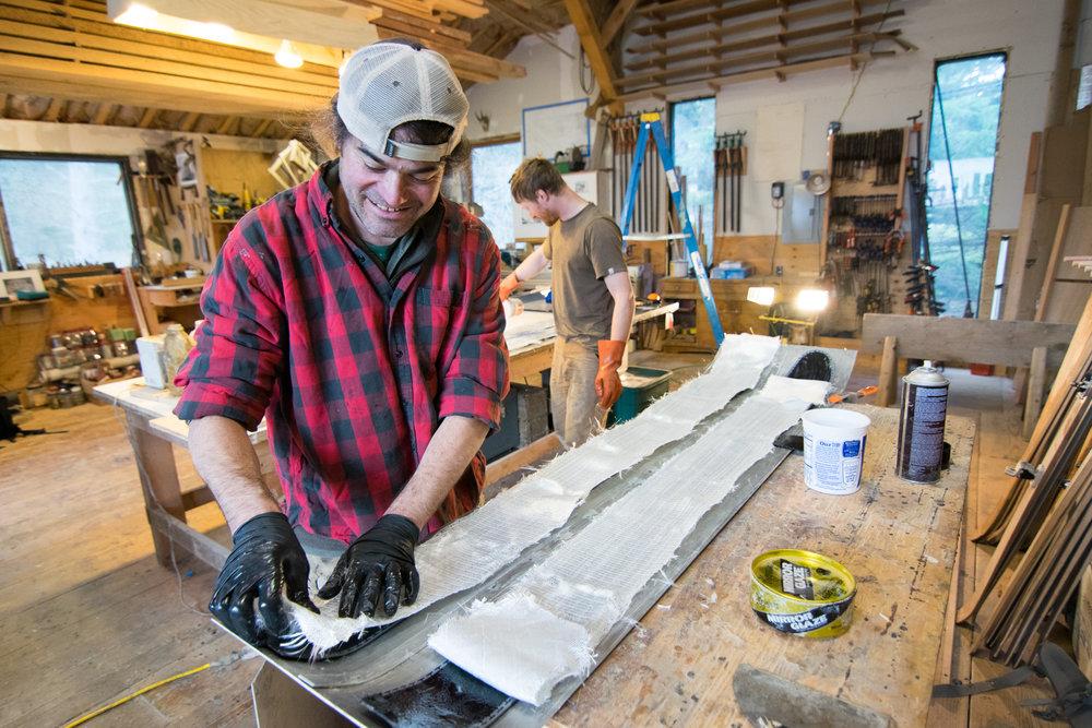 Ian Seward at Fairweather Ski Works. Photo credit:Bethany Goodrich/SSP