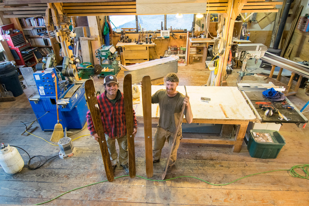 Ian Seward, left, and Graham Kraft at Fairweather Skis. Photo credit: Bethany Goodrich/SSP