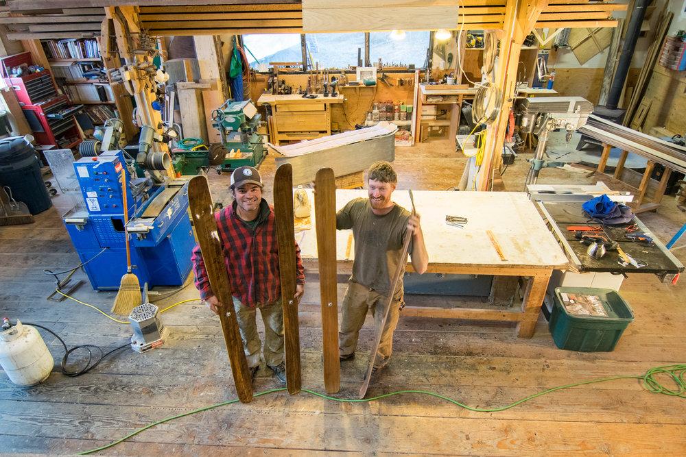 Ian Seward, left, and Graham Kraft at Fairweather Skis. Photo credit: Bethany Goodrich/SSP