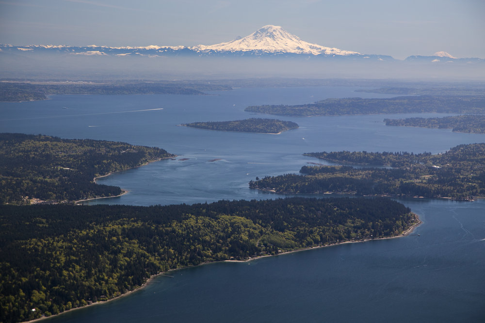 Bird's eye view of Puget Sound. Photo © John Marshall.