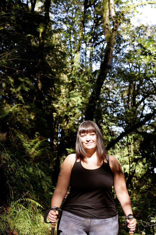 Jenny in the wild. Photo courtesy of Jenny Bruso.