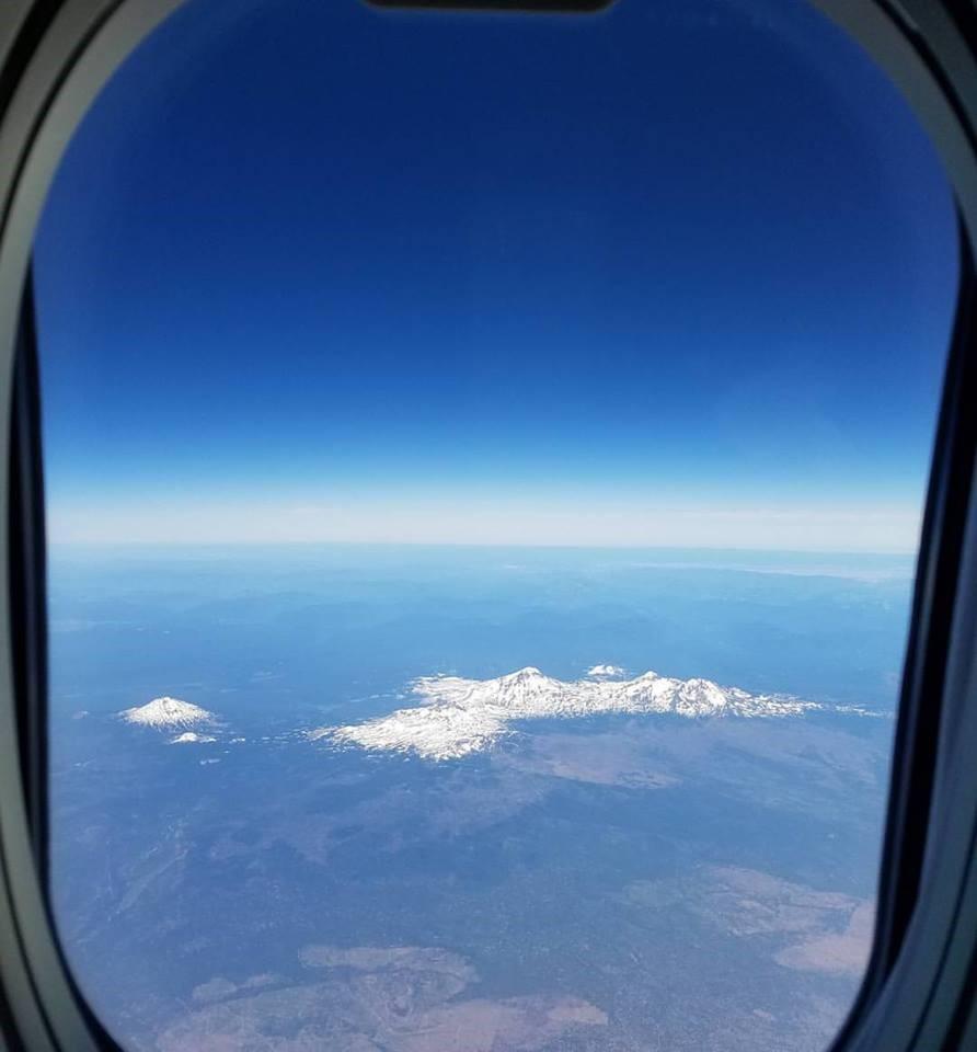 Flying over Bend, Ore. Photo by Jen Burke.