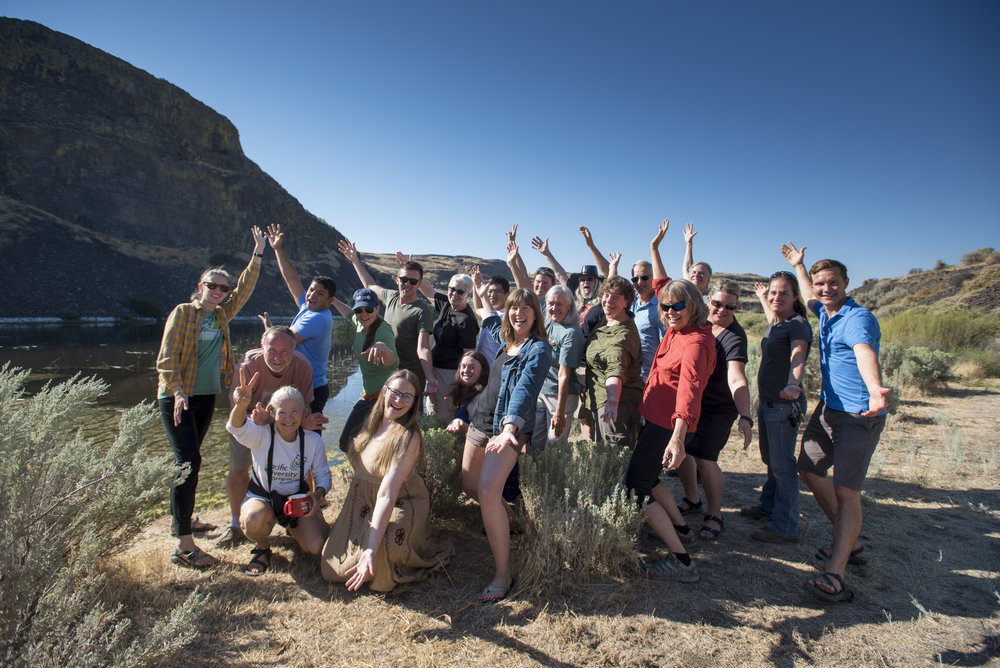 Nature Conservancy in Washington volunteers and staff during the volunteer appreciation event at Moses Coulee. Photo © Hannah Letinich / TNC