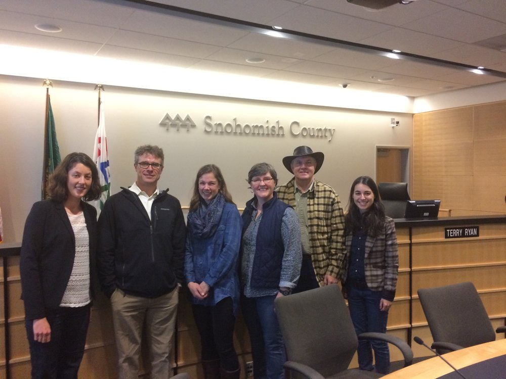 Farmers from the Photovoice project spoke at the Snohomish County Council to champion the needs of agriculture. Photo © Heather Cole.
