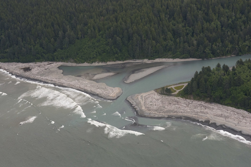The Pacific Ocean, at the mouth of the Hoh River. Photo by  Hannah Letinich/LightHawk.