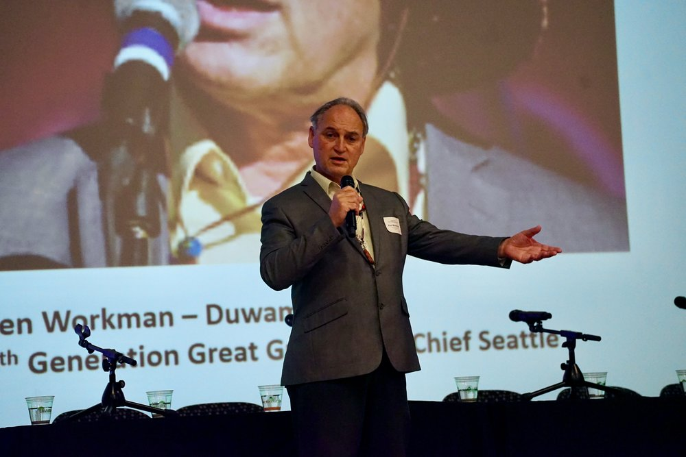 Duwamish Tribal member and descendent of Chief Sealth, Ken Workman. Photo © Courtney Baxter / TNC