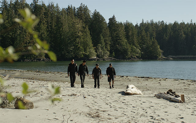 Coastal Watchmen patrol the beach as part of the Ahousaht's Indigenous guardians program © TNC