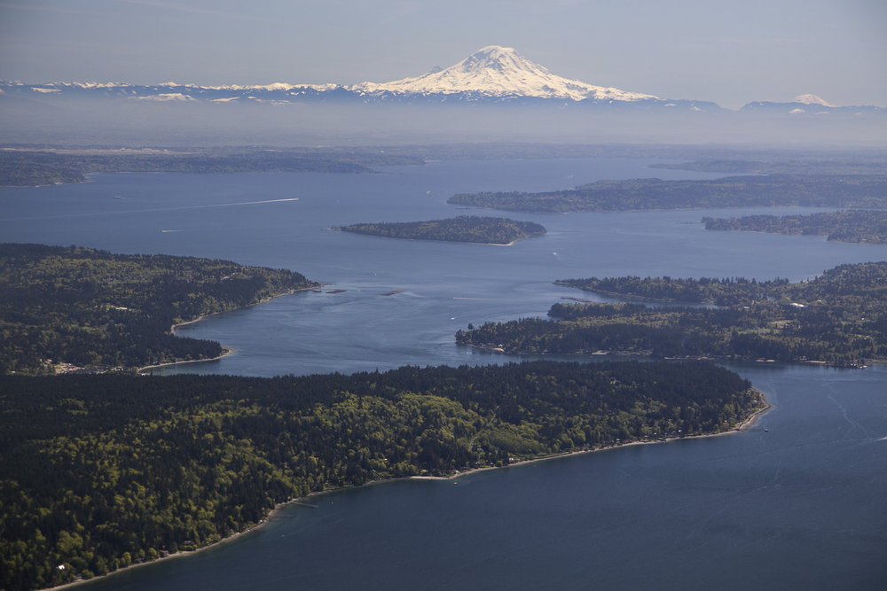 Bird's eye view of Puget Sound. Photo by John Marshall.