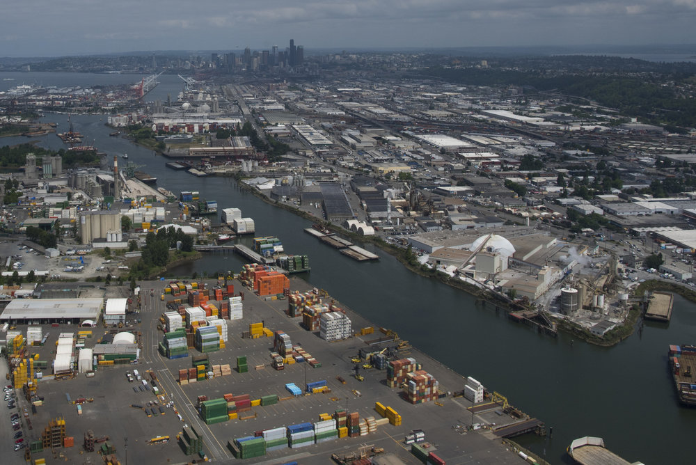 Duwamish River, Harbor Island, Seattle. Photo © Hannah Letinich/LightHawk.