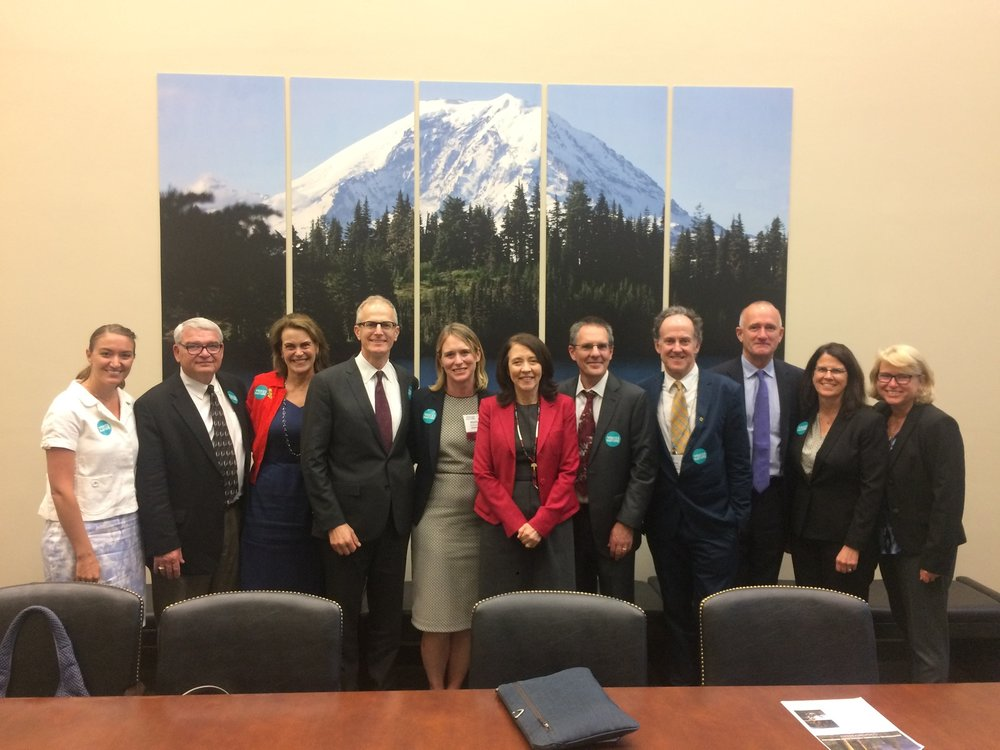 We had a great meeting with Sen. Maria Cantwell in 2017 and thanked her for her tireless work for permanent reauthorization of the Land & Water Conservation Fund. Photo © The Nature Conservancy.