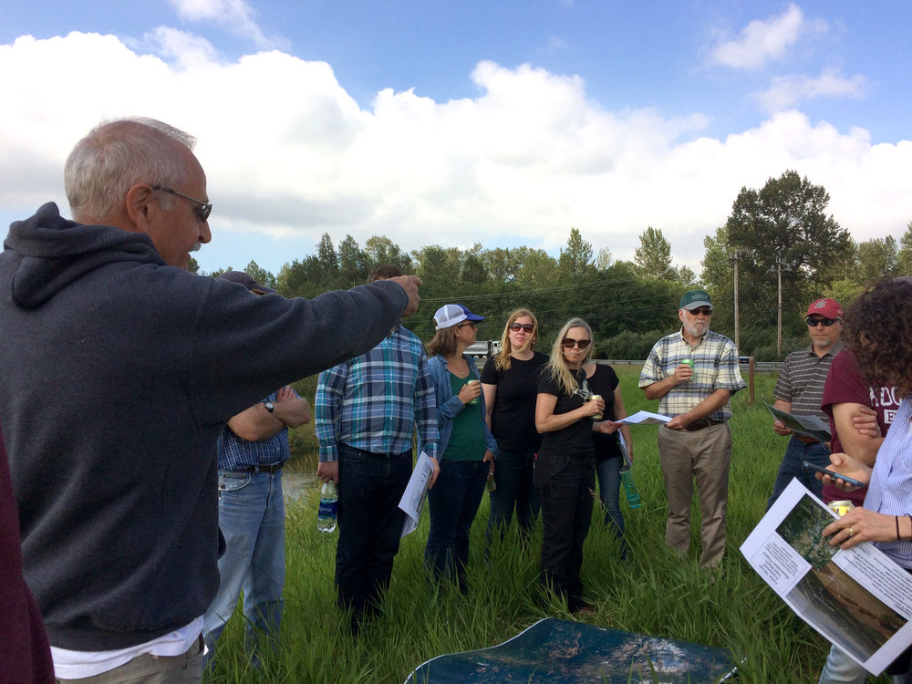 In mid-July we convened floodplain managers, tribal representatives and farmers to learn from each other and to share practices from the Skagit and the Nooksack watersheds. © Jenny Baker / TNC