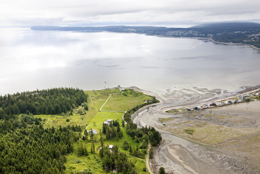 Barnum Point on Camano Island looks out over Port Susan Bay in Puget Sound. Benj Drummond/ LightHawk. Benj Drummond.