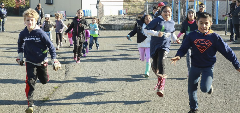 Kids play at Holy Rosary Church and school. Photo © Marissa Singleton