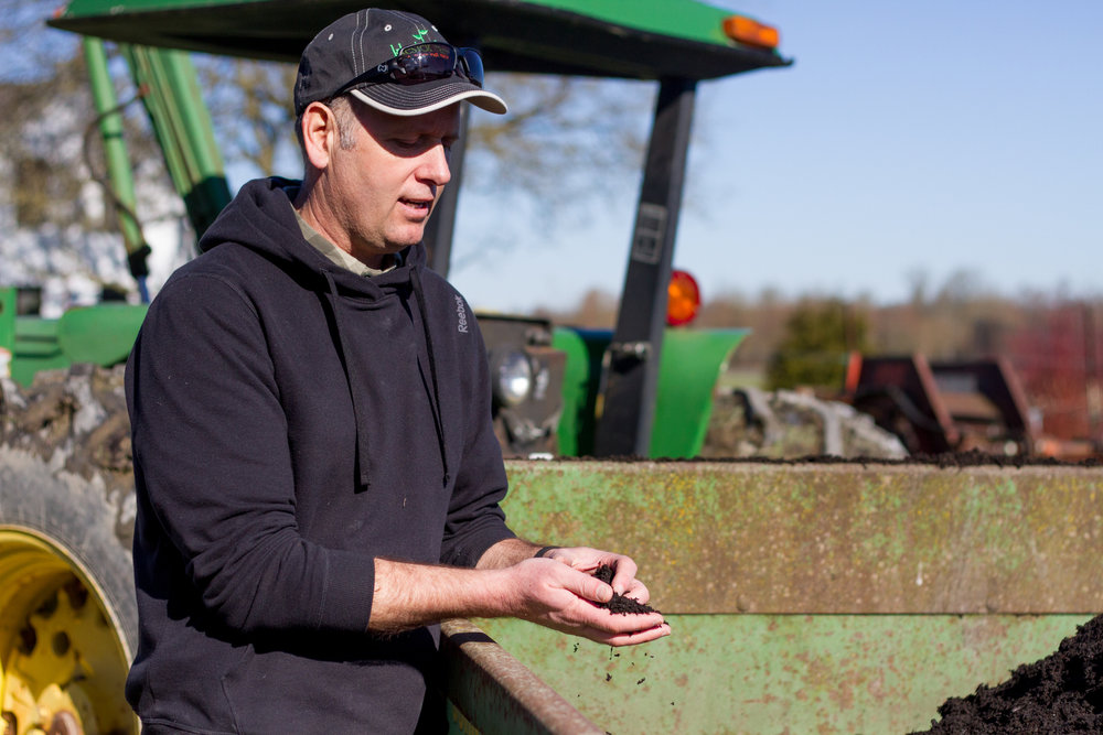 Tristan Klesick, owner of Klesick Farm in Snohomish County. Photo by Kelly Compto